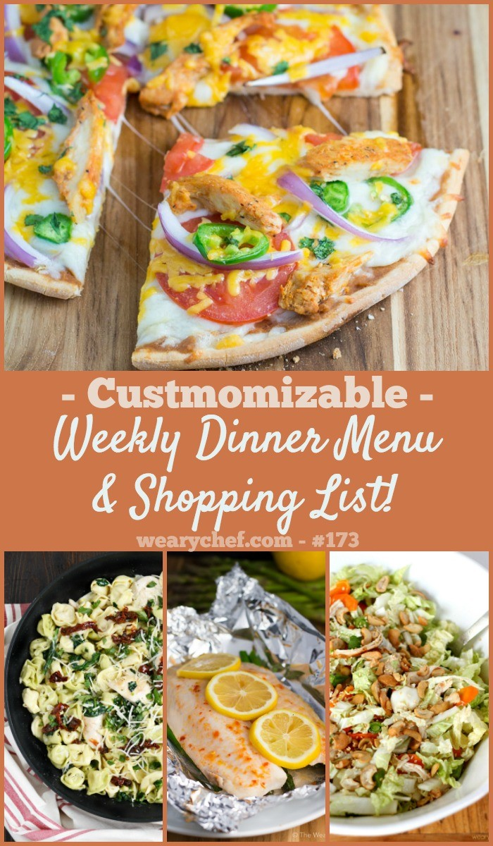 Dig into this week's menu of dinner recipes featuring skillet meals, southwest pizza, and lots more!