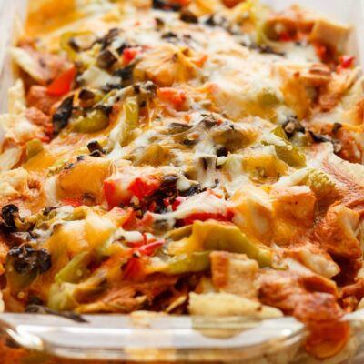 Mexican Chicken Casserole with Tortilla Chips