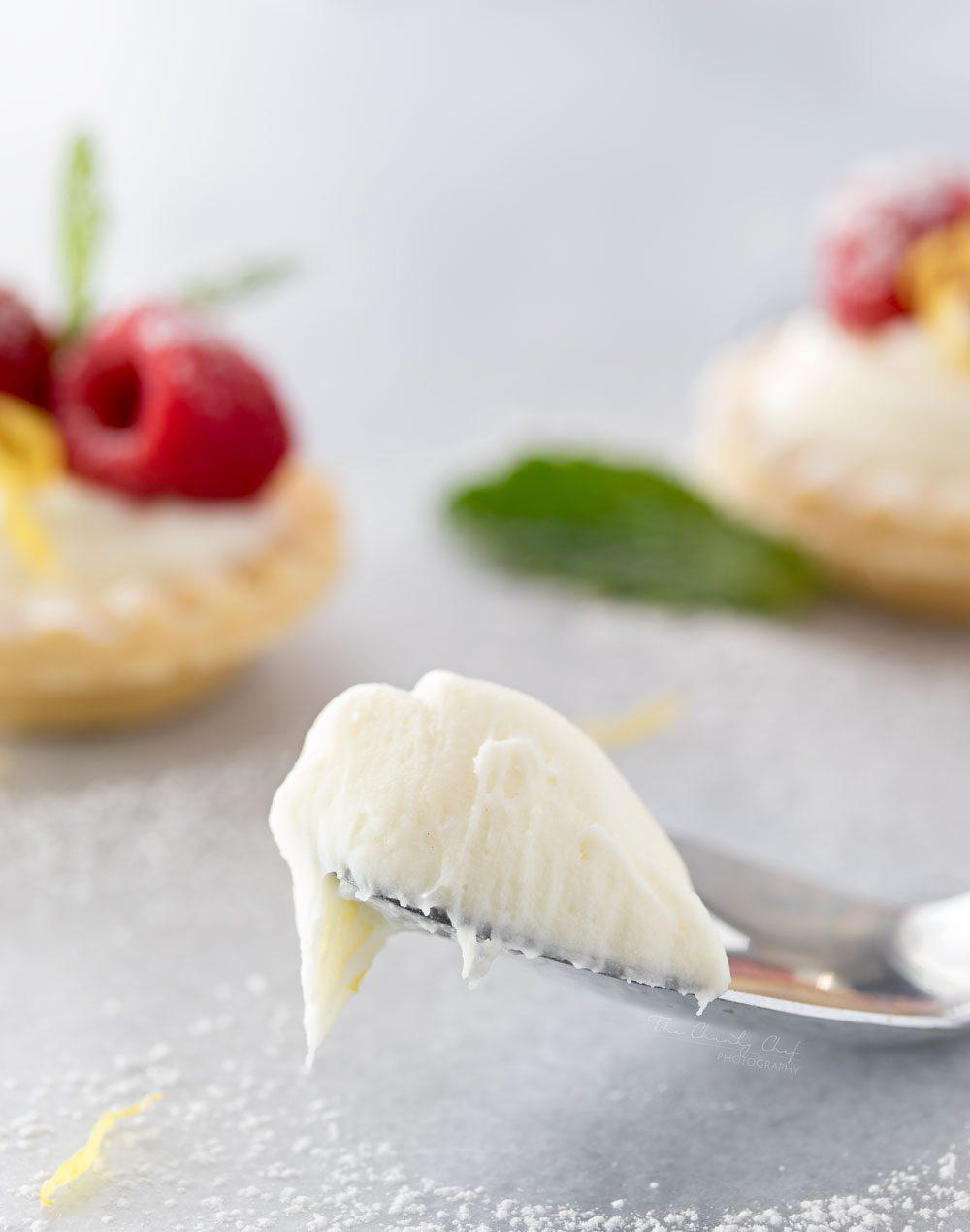 This no bake white chocolate lemon cheesecake filling is pure heaven!