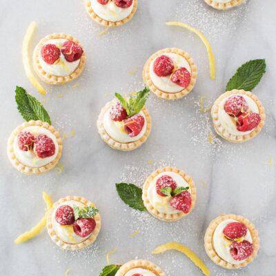 No Bake White Chocolate Cheesecake Tarts with Lemon