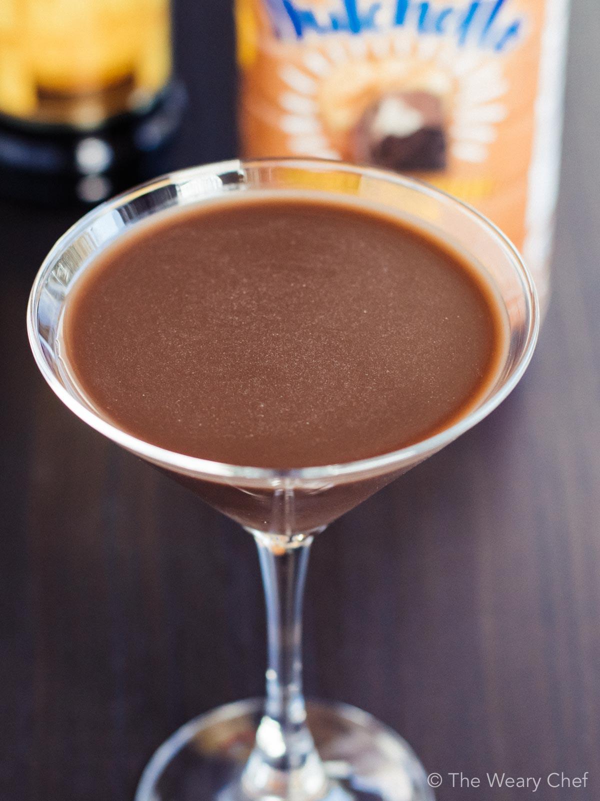 Enjoy this dairy free chocolate mudslide for a dessert cocktail.
