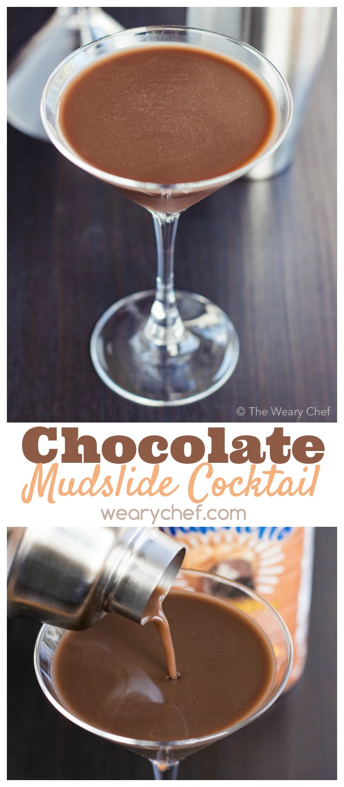 You'll love this easy, dairy free chocolate mudslide cocktail recipe!
