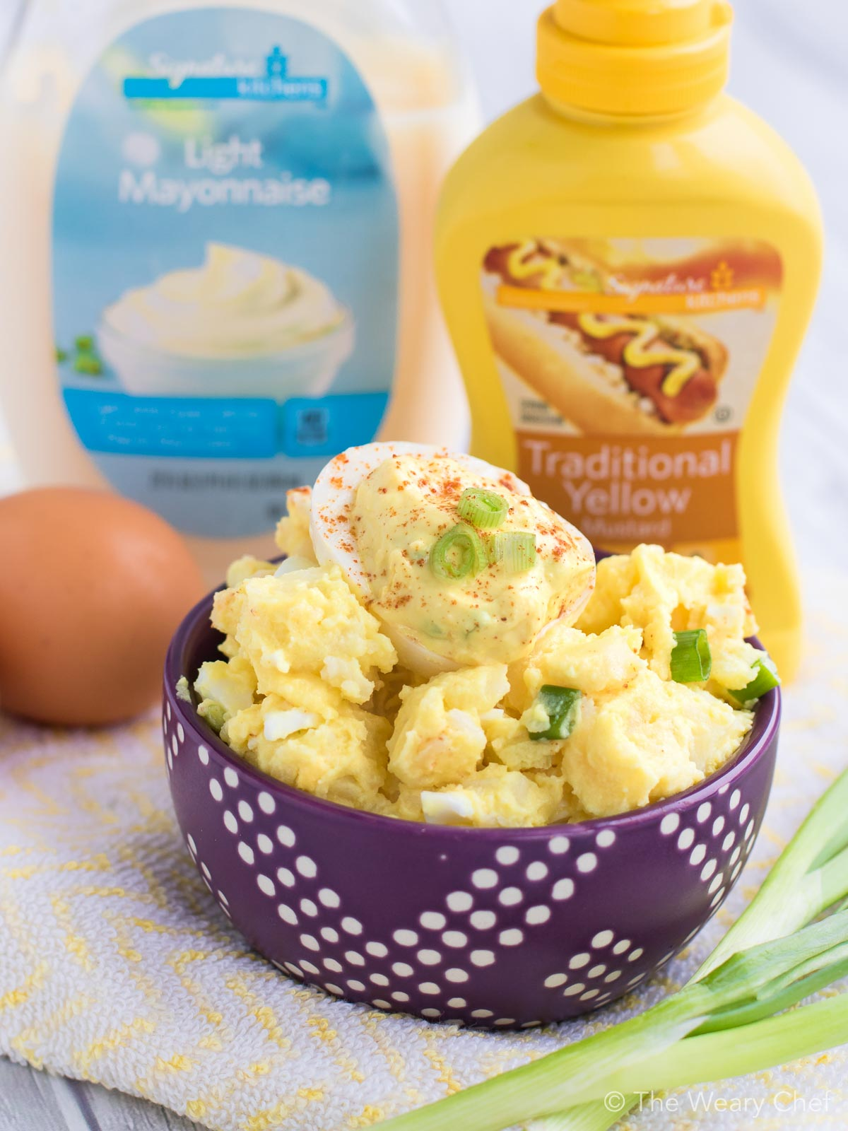 You only need a few simple ingredients to make this deviled egg potato salad this summer.