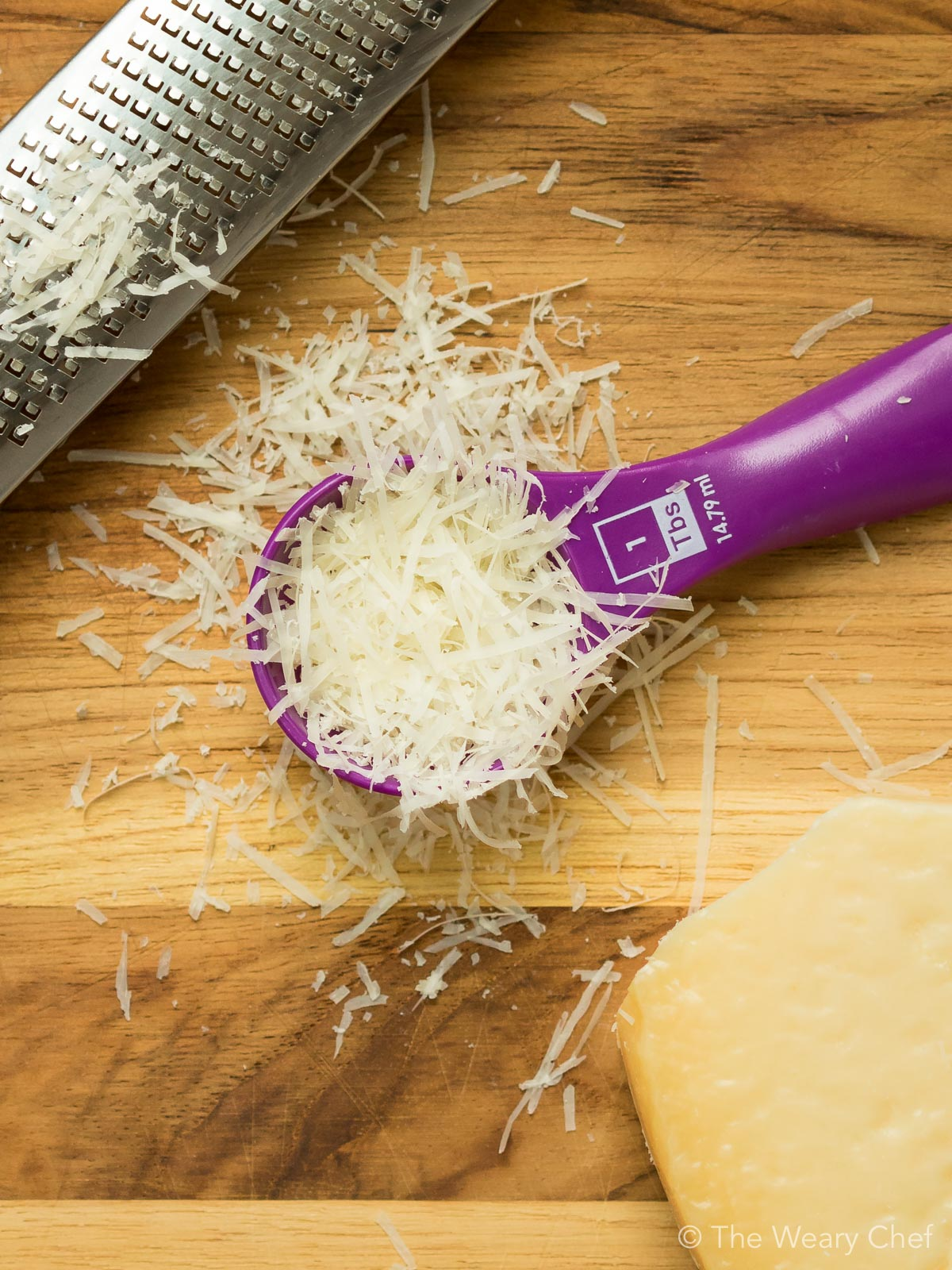 Use small amounts of strong cheeses in your recipes to get more flavor with less fat.