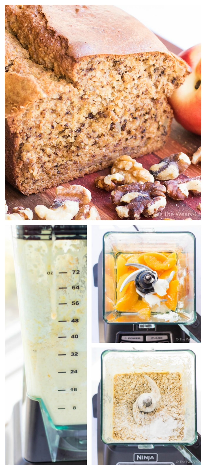 You can make peach bread with your blender!