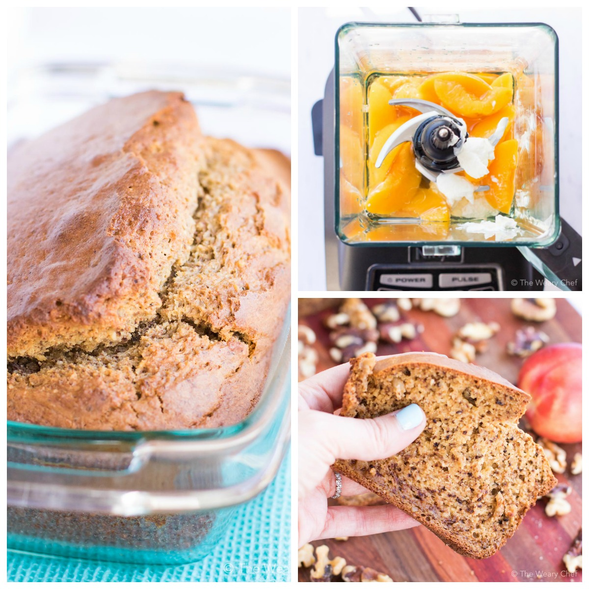 You'll love how easy it is to make this perfect peach bread with your blender!