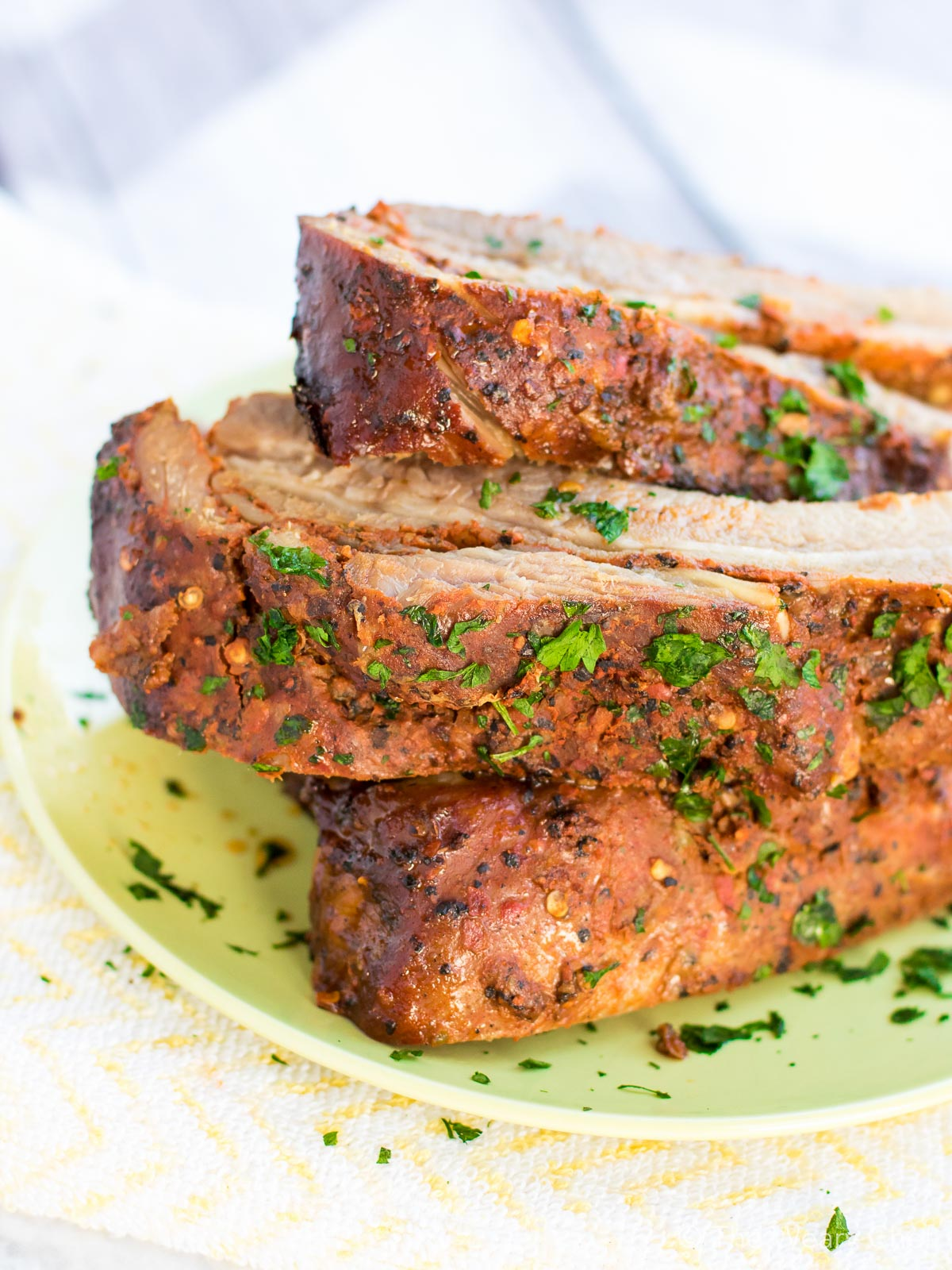 Perfectly seasoned Smithfield ribs (cooked in the slow cooker!)