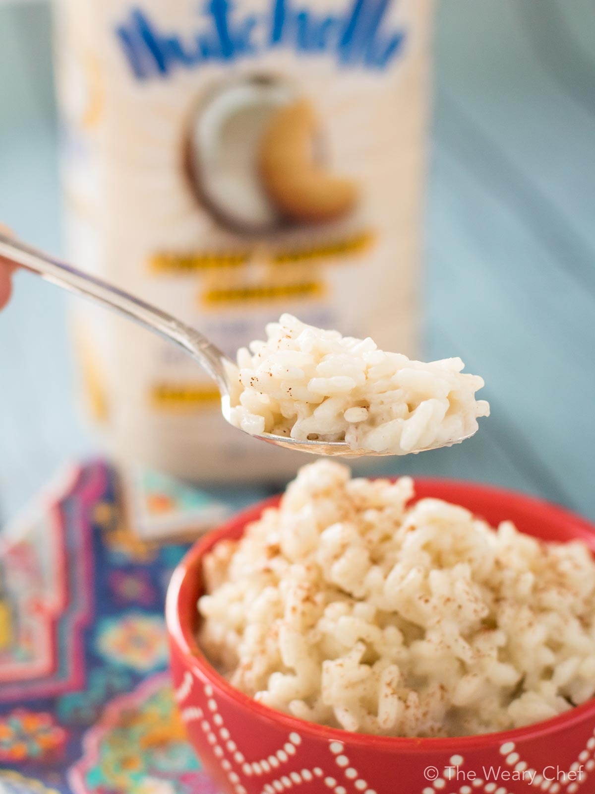 Low in sugar, dairy free, and delicious. You've gotta try this easy vegan rice pudding!