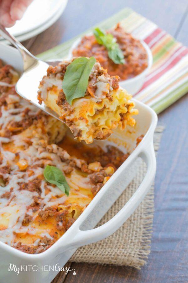 Lasagna Roll Ups - mykitchencraze.com
