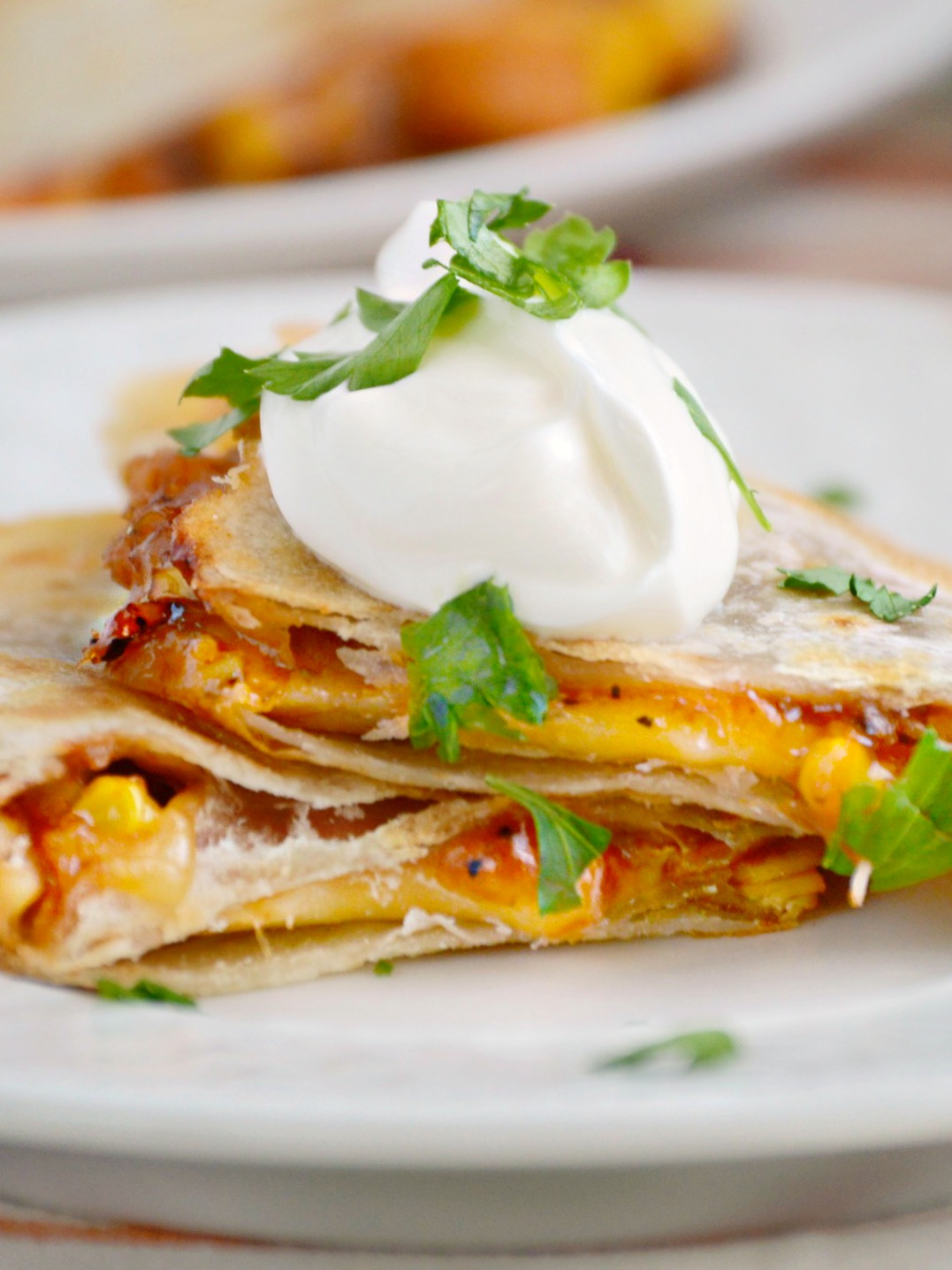 Dig into these BBQ Chicken Quesadillas for an easy weeknight dinner!