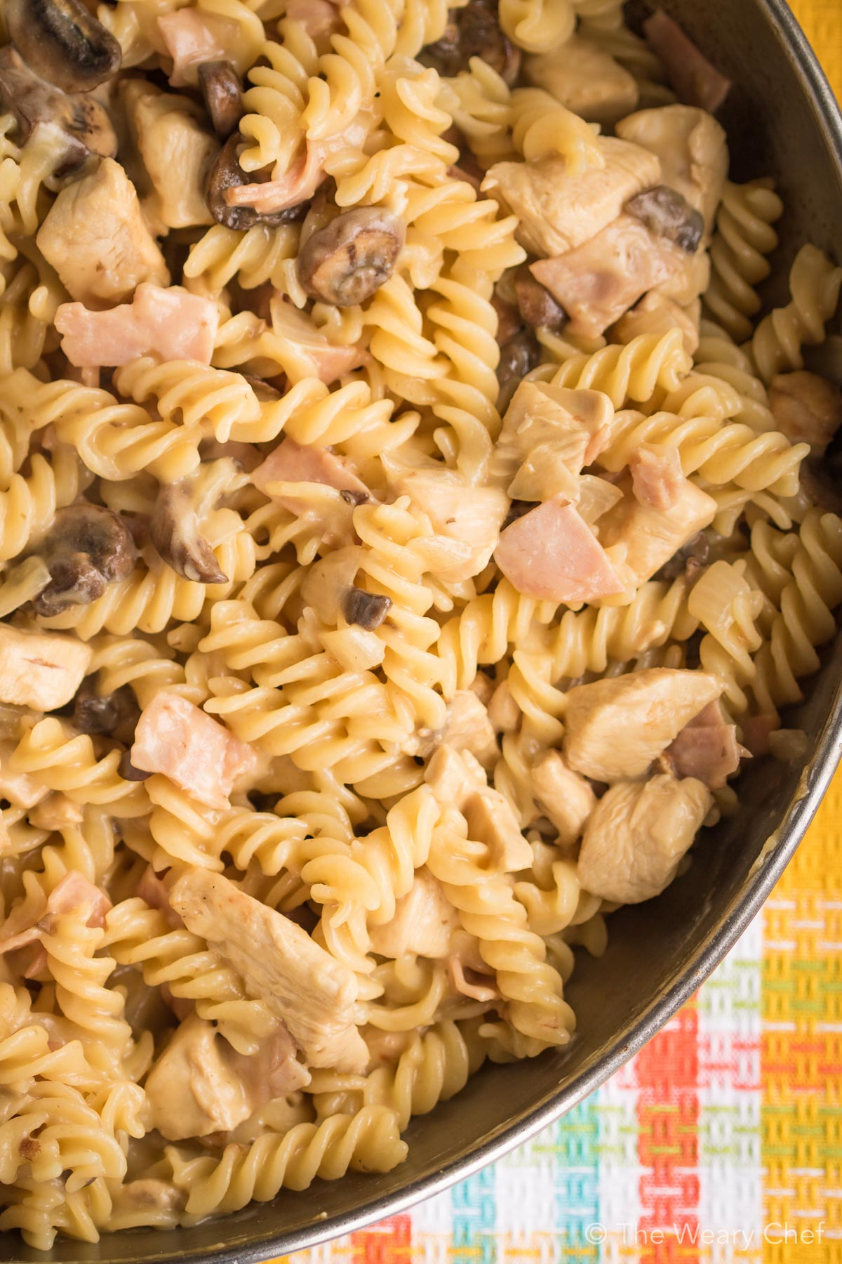 Chicken Cordon Bleu Pasta is a 20-minute skillet dinner with the taste of the classic recipe!