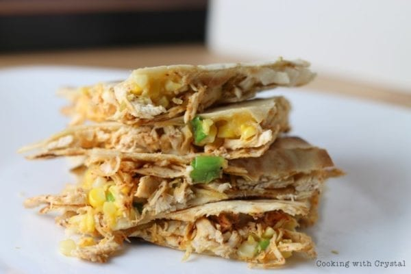 Grilled Chicken and Corn Quesadillas - Cooking with CrystalGrilled Chicken and Corn Quesadillas - Cooking with Crystal