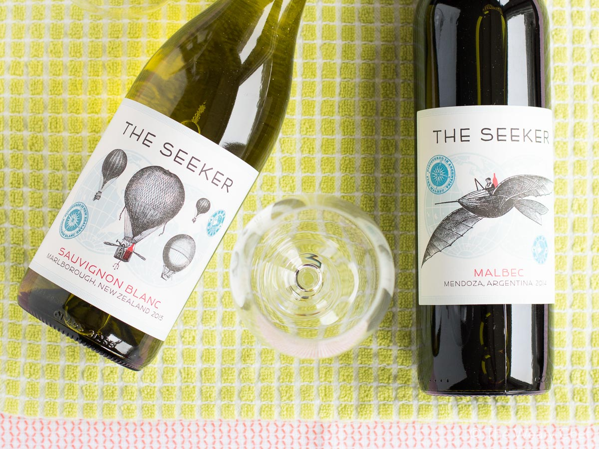 The Seeker is a lively line of wines from all over the world.