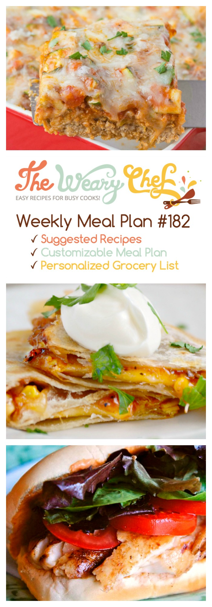 This week's easy dinner menu features Italian Meatloaf, BBQ Chicken Quesadillas, and lots more!