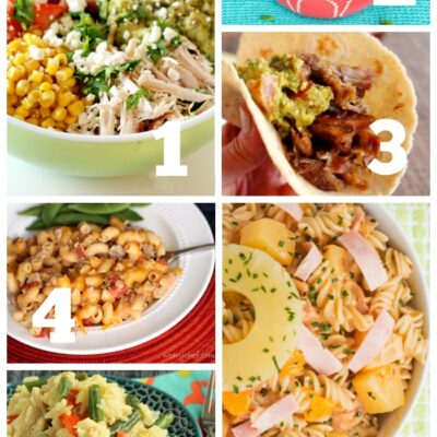 Easy Weekly Dinner Menu #183 – Hawaiian Pasta Salad, Cheeseburger Macaroni, and More!