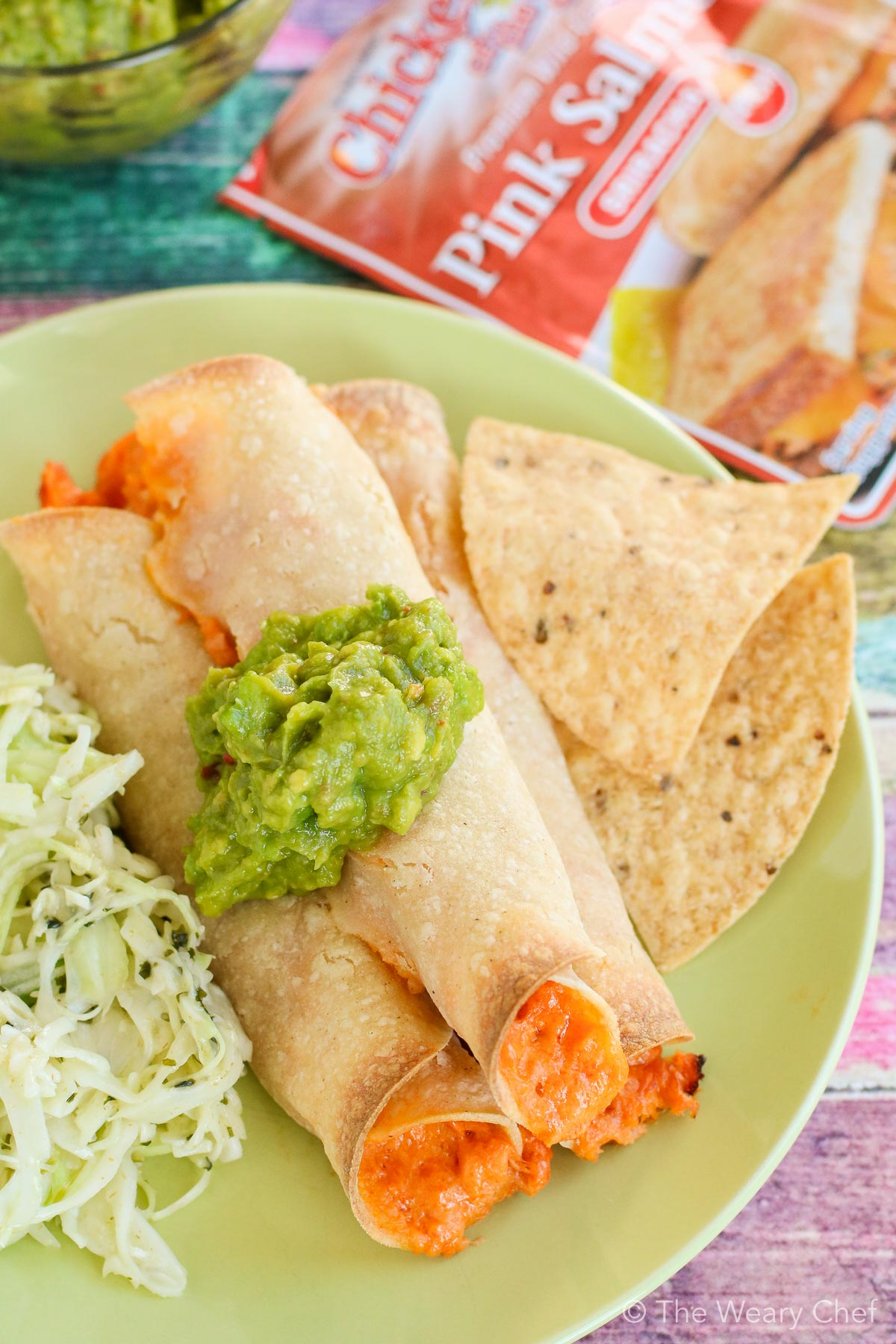 Baked salmon taquitos are such an easy and delicious weeknight dinner!