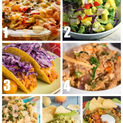 Easy Weekly Dinner Menu #181: Mango Salad, Ham Pasta, and More!