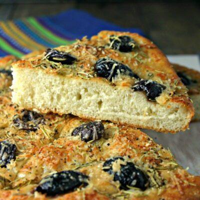 Shortcut Olive Focaccia Bread Recipe