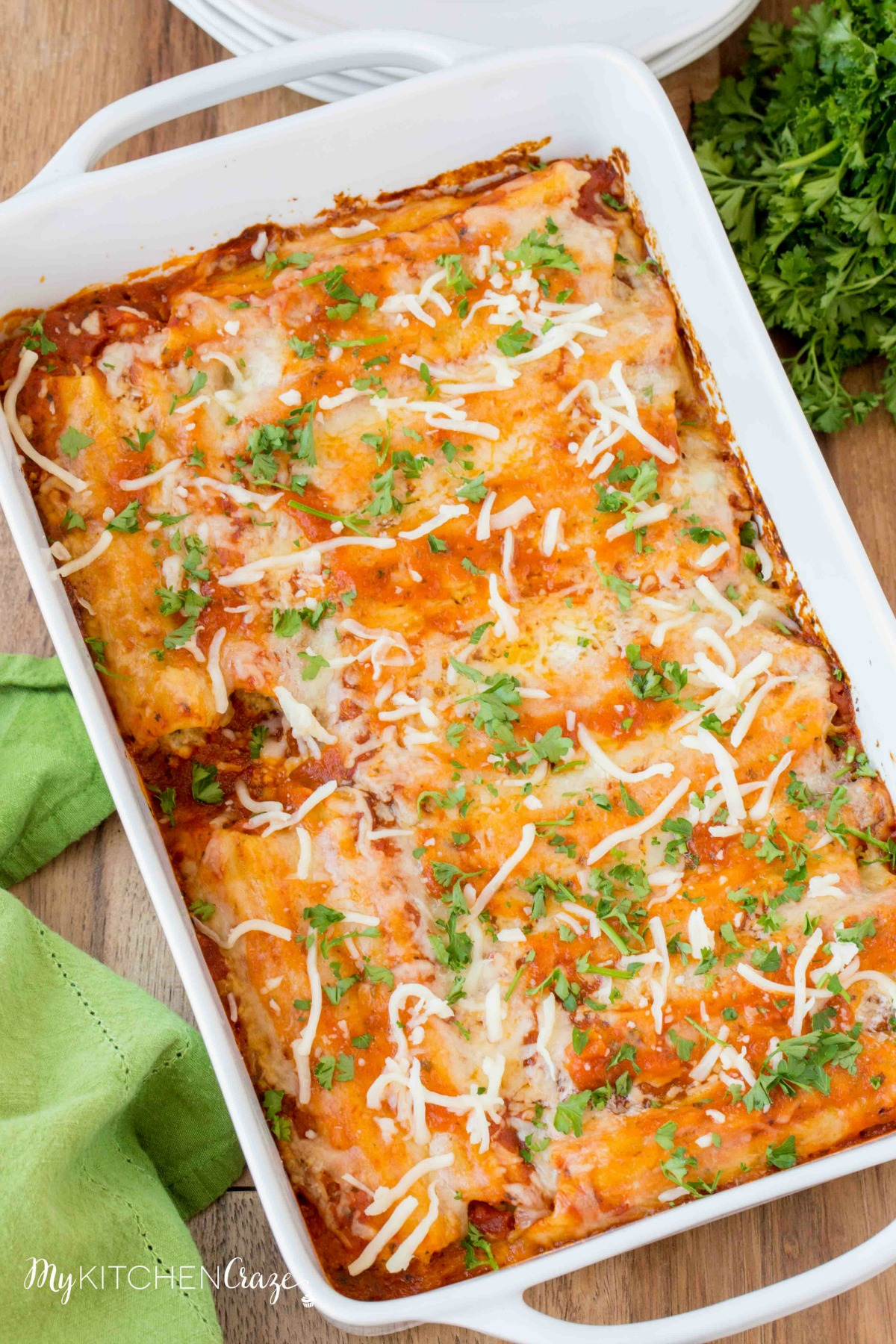 You won't be able to resist trying this Homemade Manicotti!