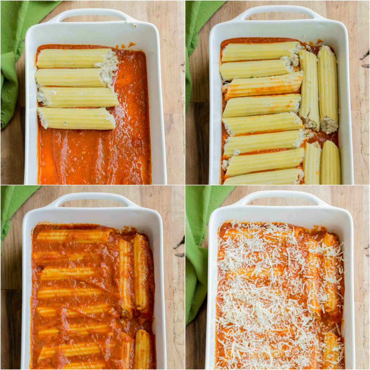 Come see how to make homemade manicotti step by step!