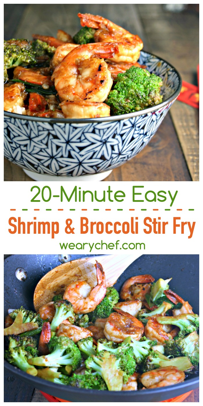 Chinese shrimp and broccoli stir fry the weary chef this chinese shrimp and broccoli stir fry recipe is a 20 minute meal you forumfinder Choice Image