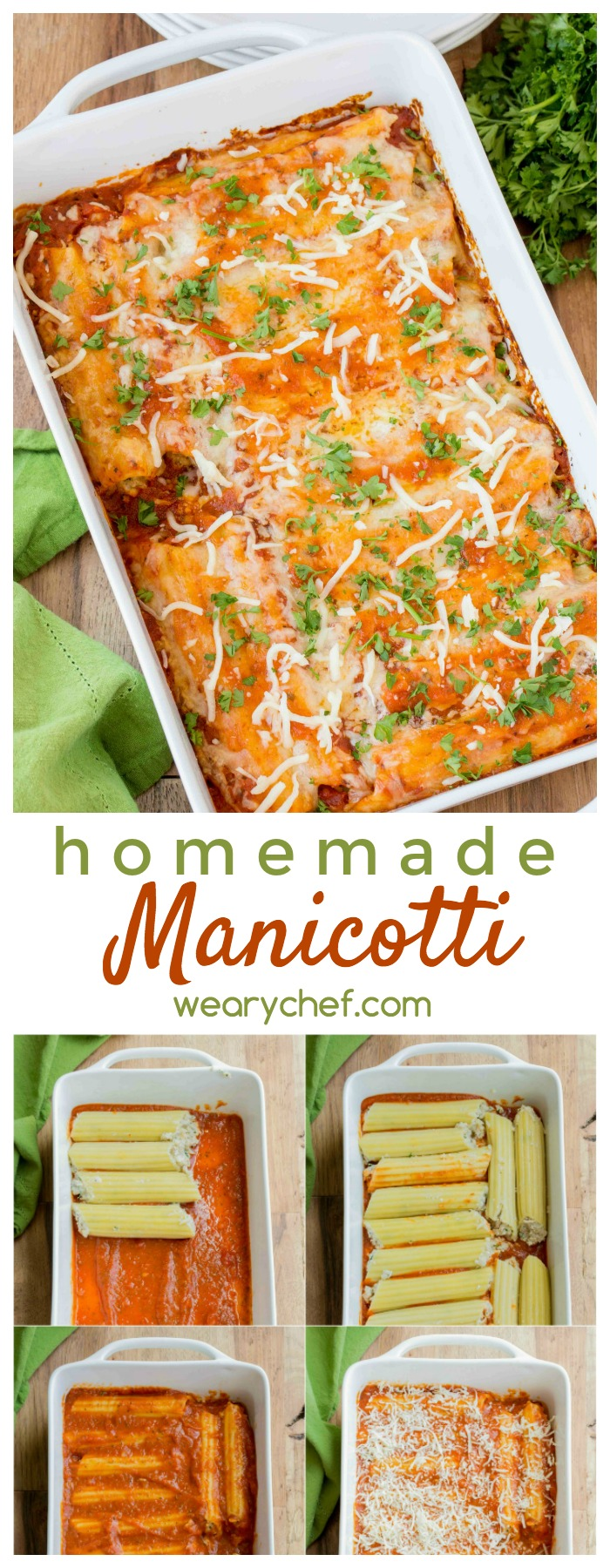 Forget the restaurant and enjoy this Homemade Manicotti right from your own oven!