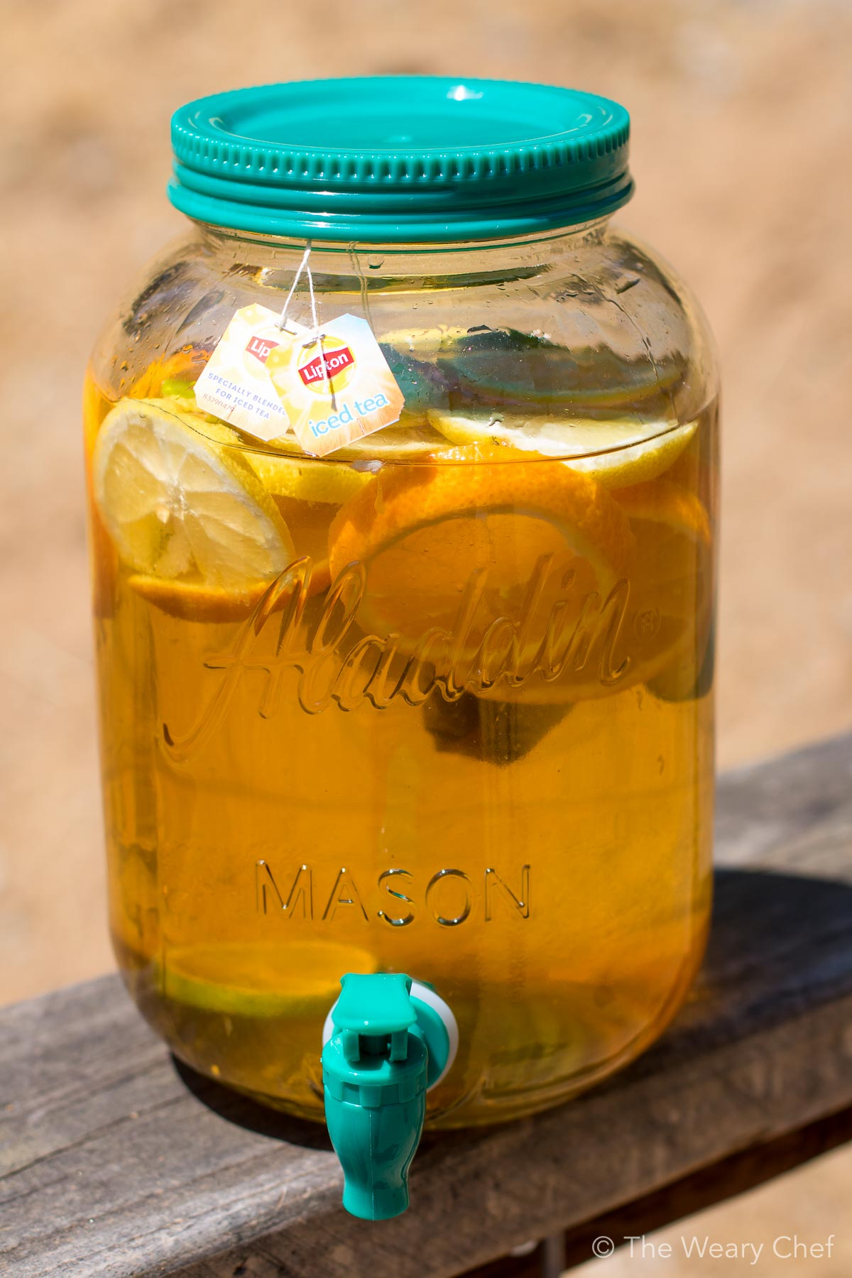 Honey Citrus Sun Tea is easy and fun to make in the summer!