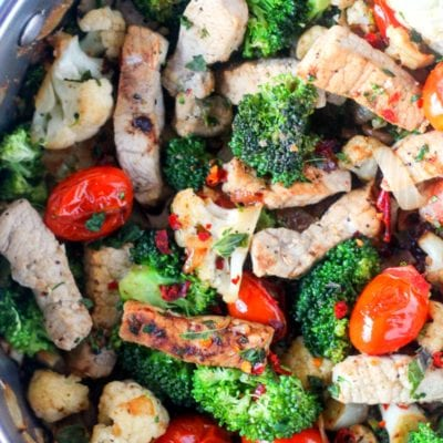 Lemon Pork Skillet Dinner with Vegetables
