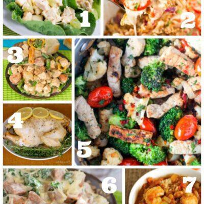 Weekly Dinner Menu #185: Trying (again) to get healthy.
