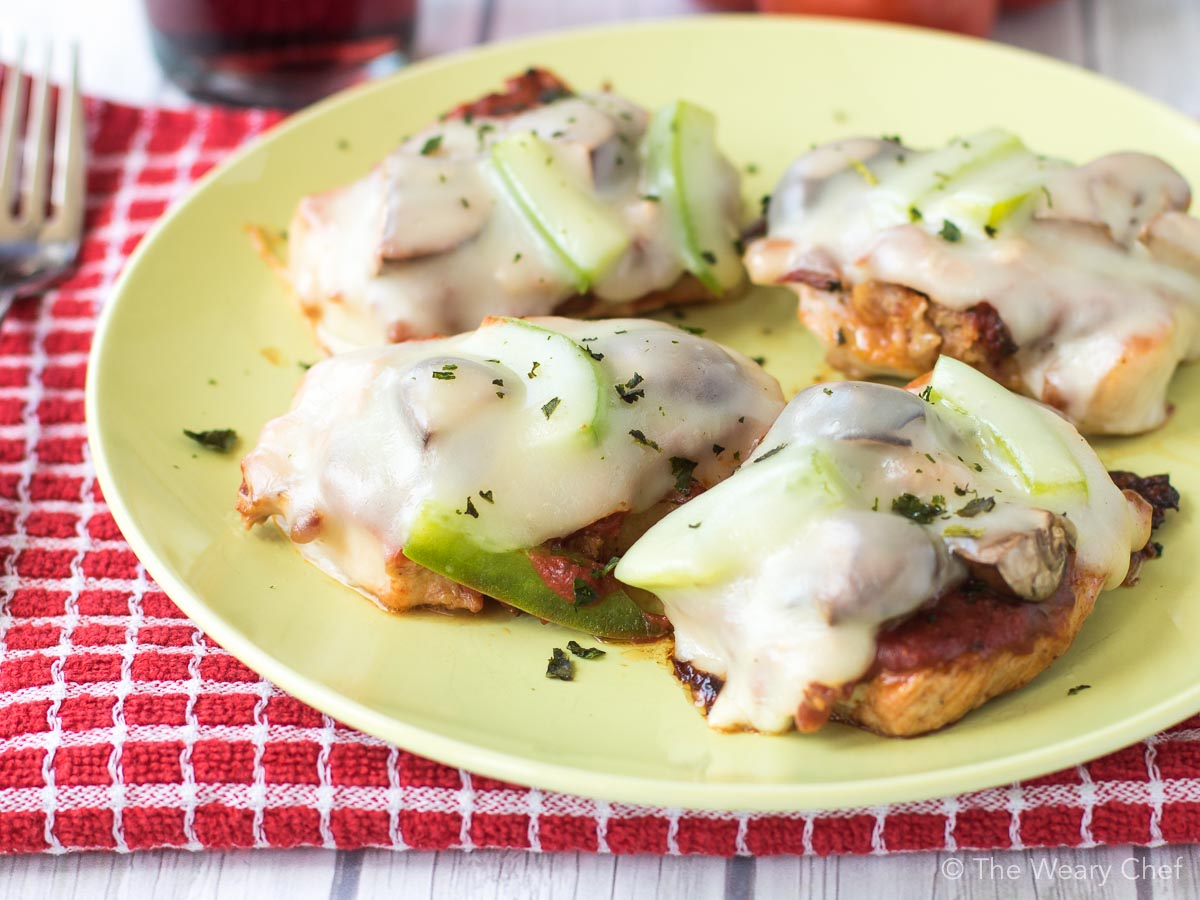 """Pizza Pork Medallions are surely the best way to make low carb pizza ever. The """"crust"""" is PORK!"""