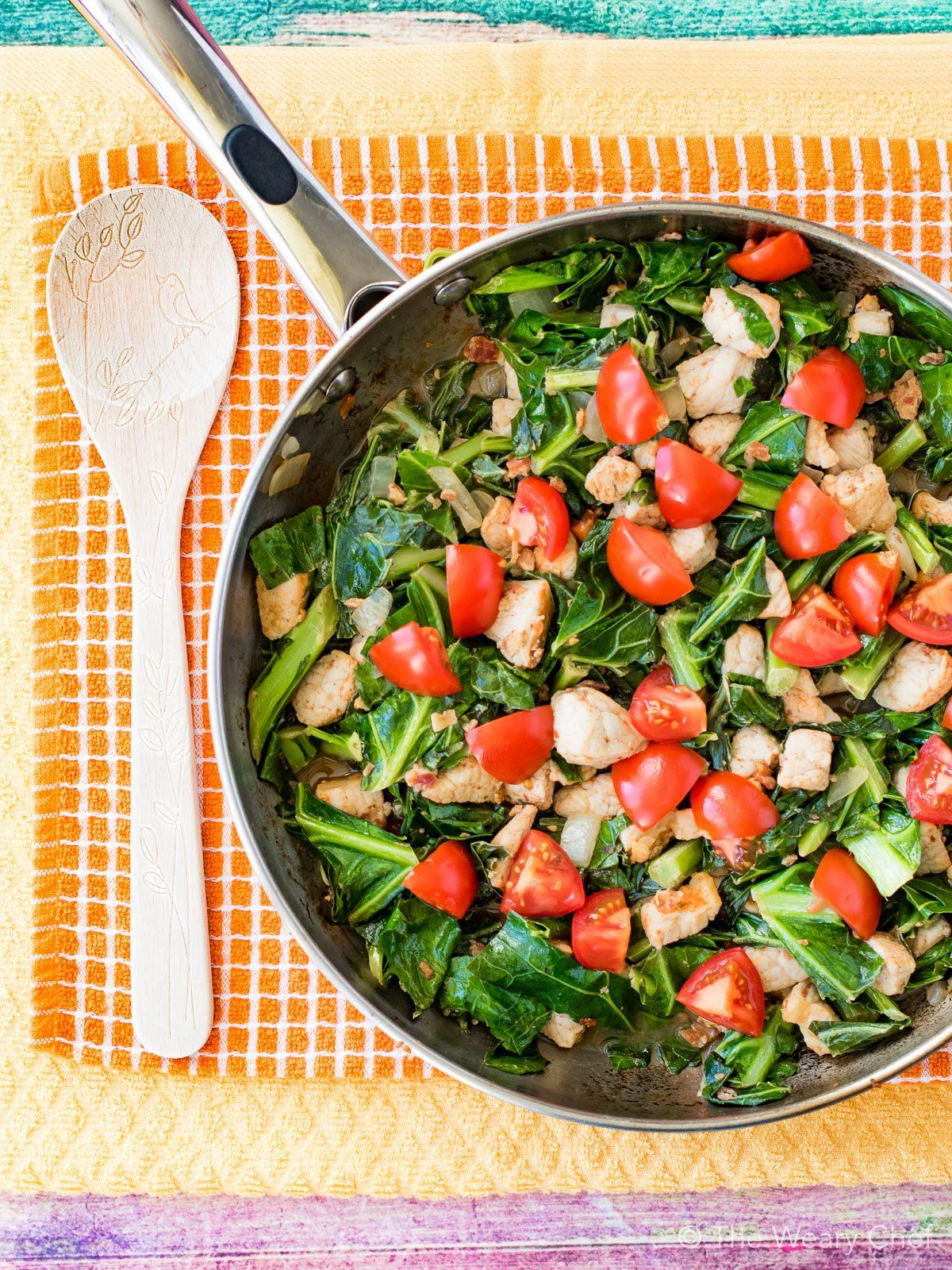 Pork and Greens Stir Fry: As tasty as it is pretty!