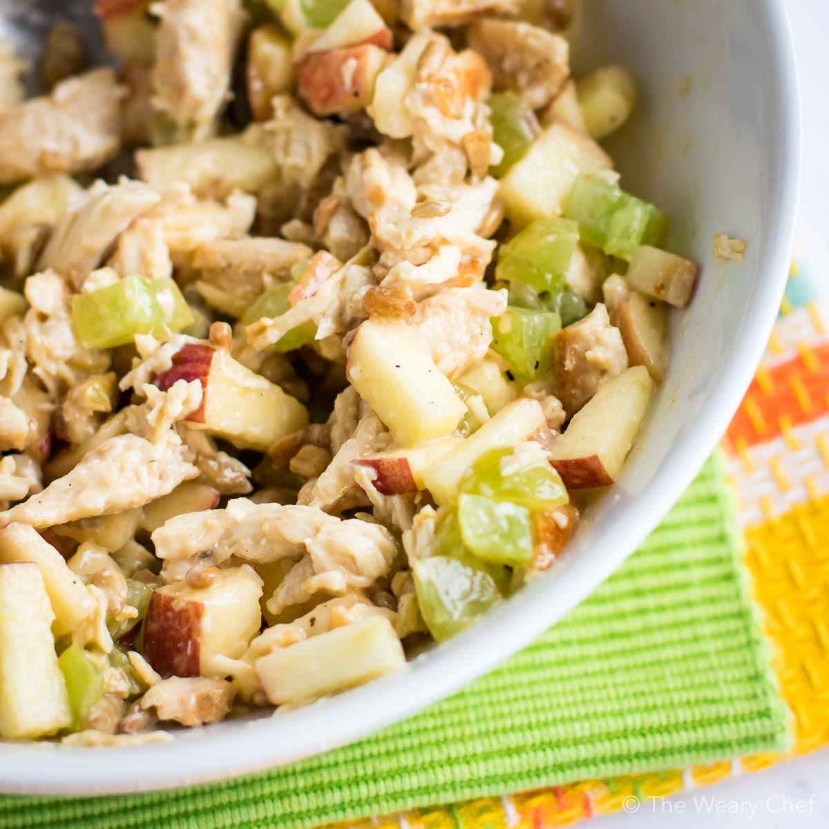 This easy spin on Waldorf Chicken Salad is a perfect lunch or dinner recipe!