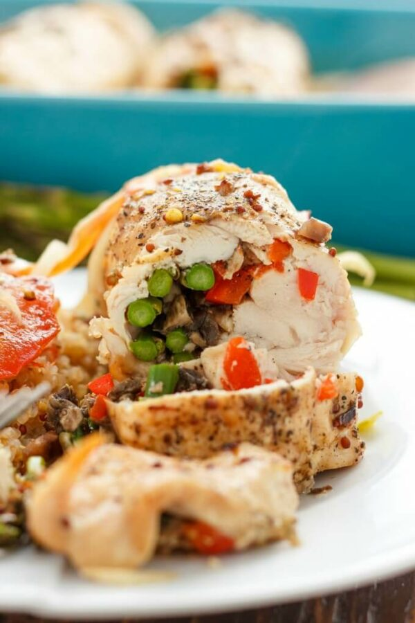 Thisasparagus stuffedchicken iswell worth the minimal effort. Great for guests but easy enough for a weeknight dinner!