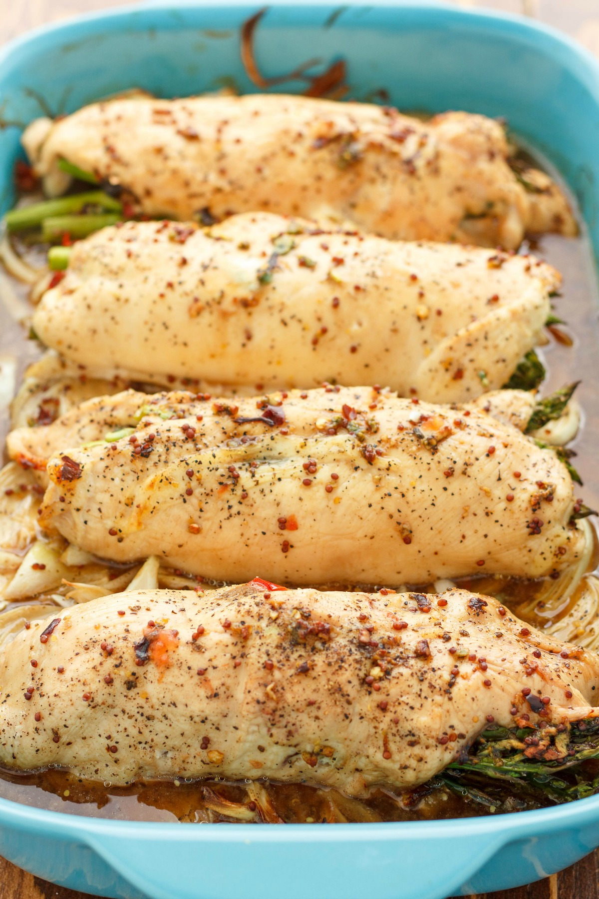 This asparagus stuffed chicken is well worth the minimal effort. Great for guests but easy enough for a weeknight dinner!