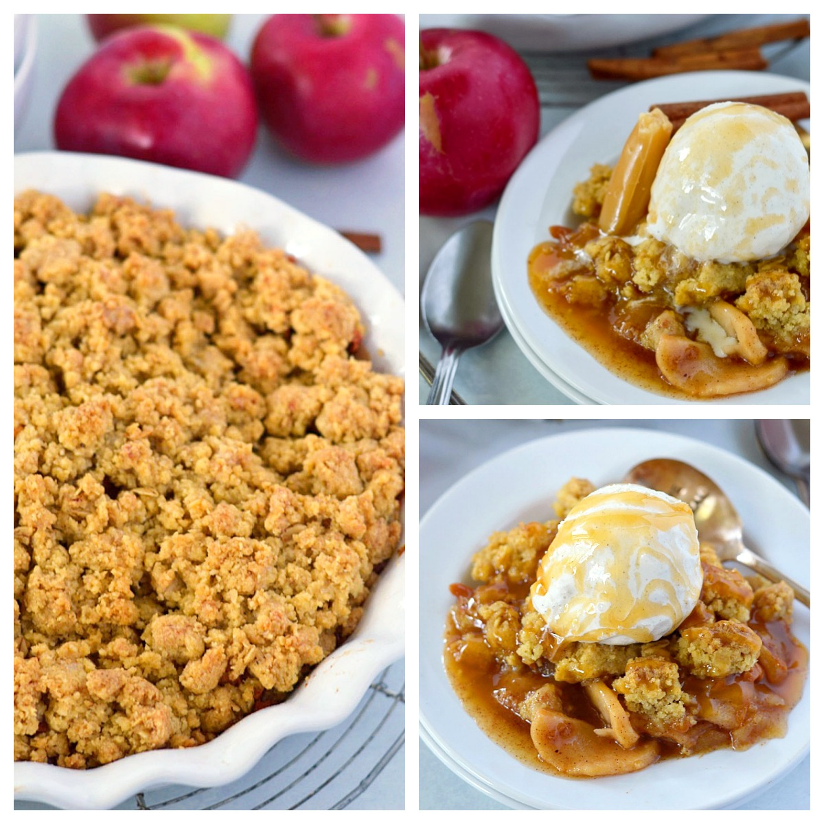 This Caramel Apple Crisp is sure to be your new favorite fall dessert recipe!