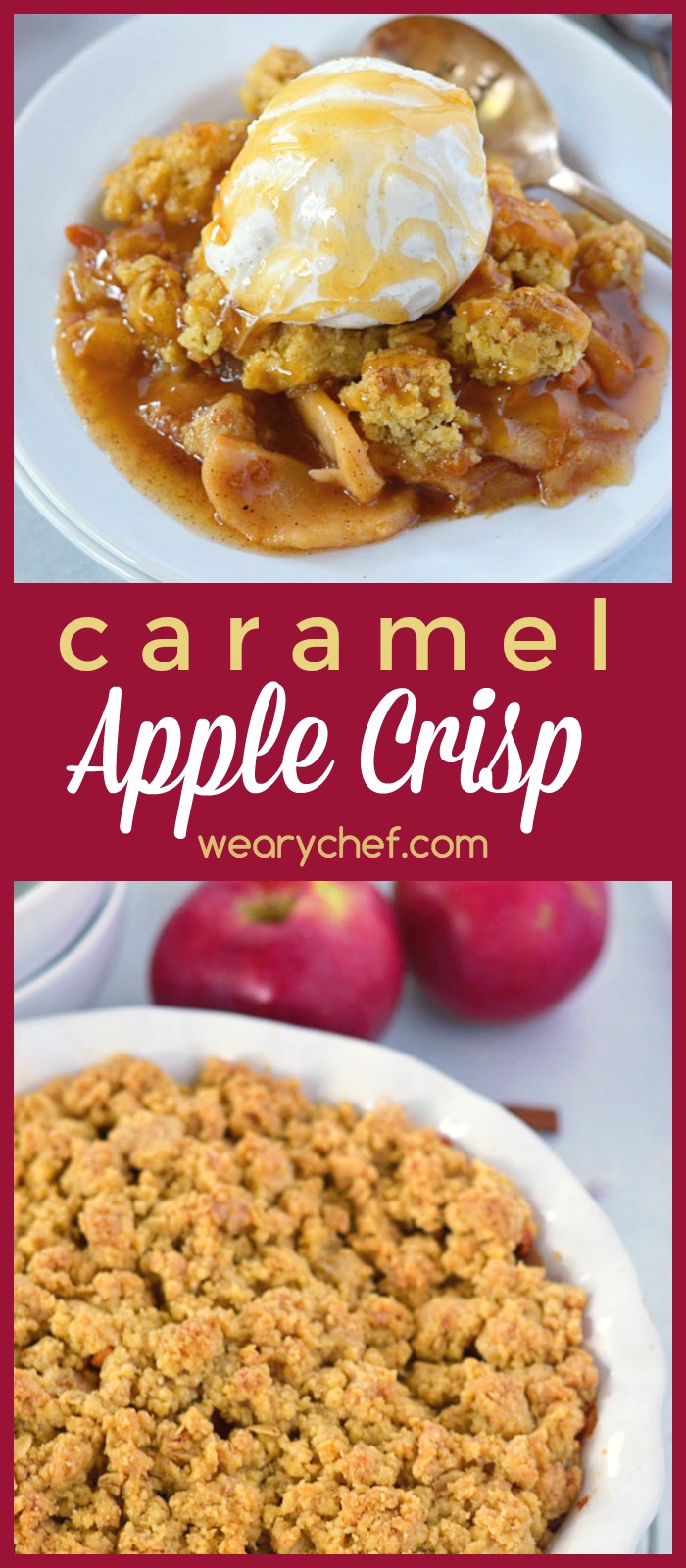 This Caramel Apple Crisp is one of my favorite fall desserts, and I know you will love this dessert recipe too!