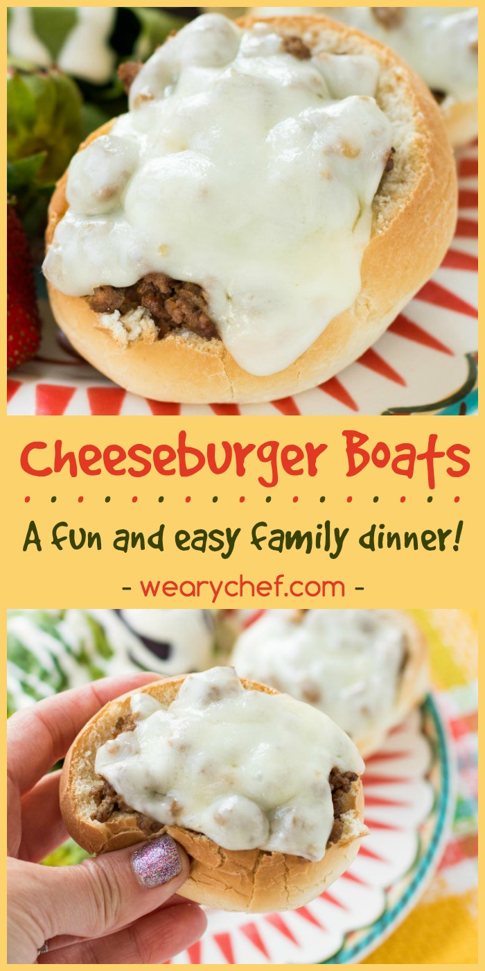 These easy cheeseburger boats are a fun way to enjoy a family favorite dinner!