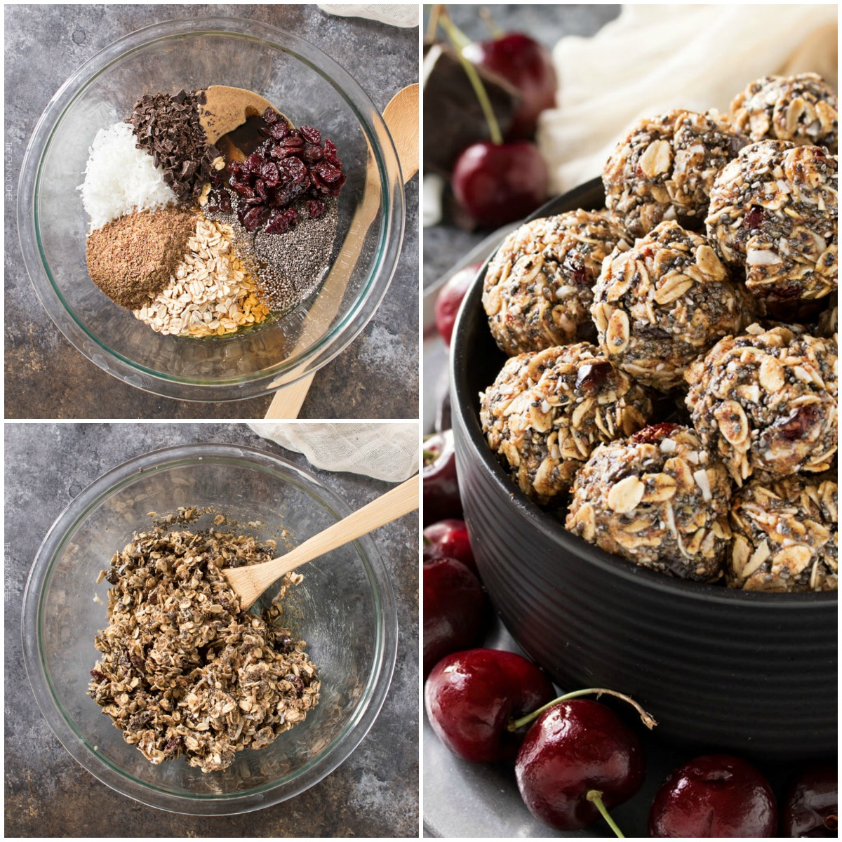 Cherry Chocolate Almond Energy Balls - Easy to make and so satisfying!
