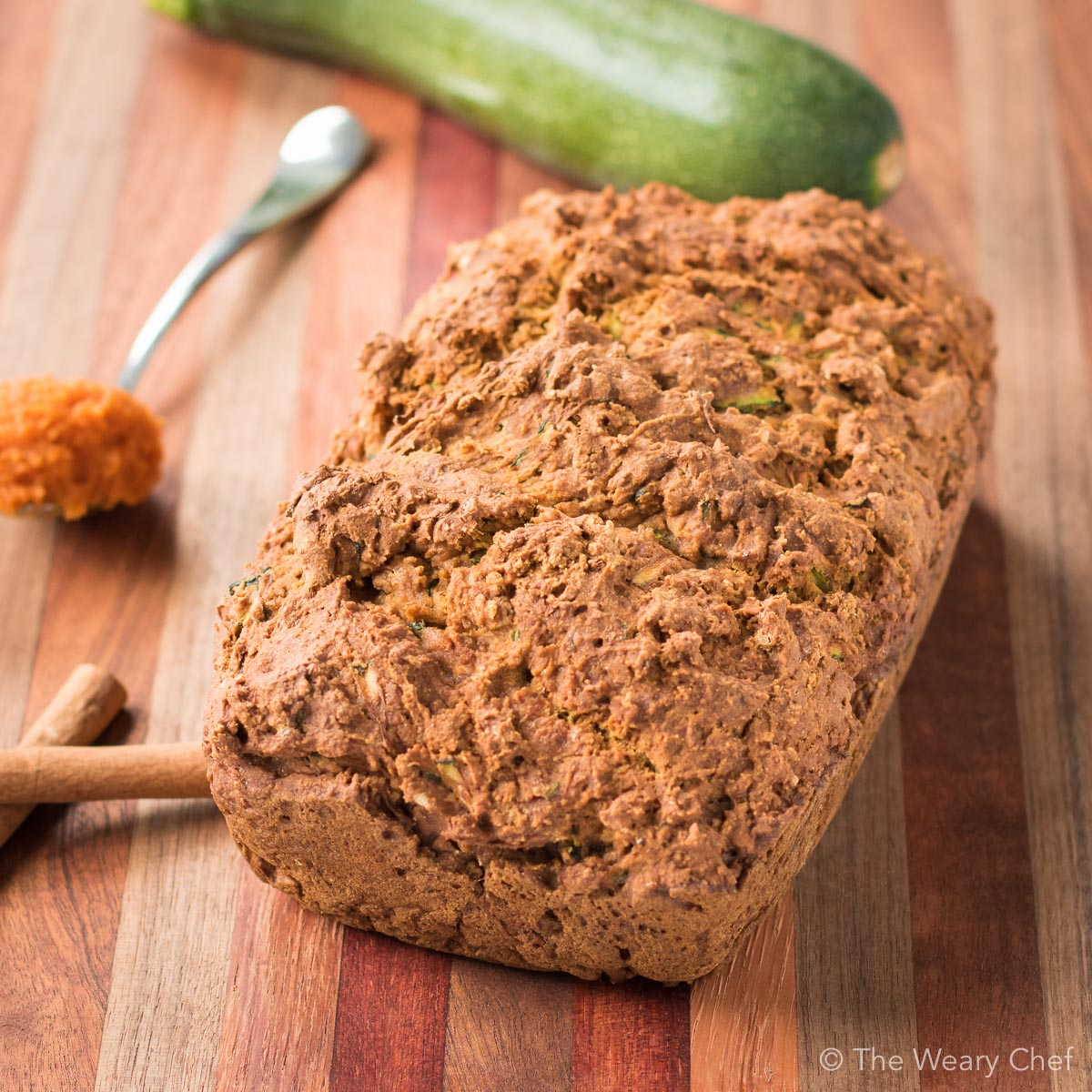 You'll love this quick and healthy Pumpkin Zucchini Bread recipe!