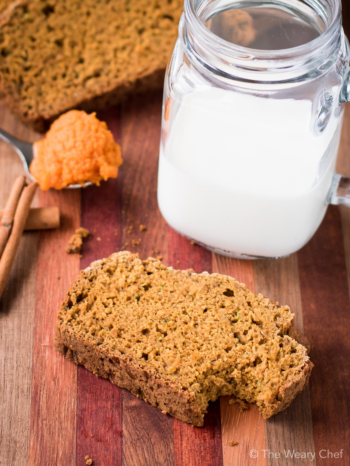 Breakfast, after school snack, or holiday gift - All are right for this pumpkin zucchini bread recipe!