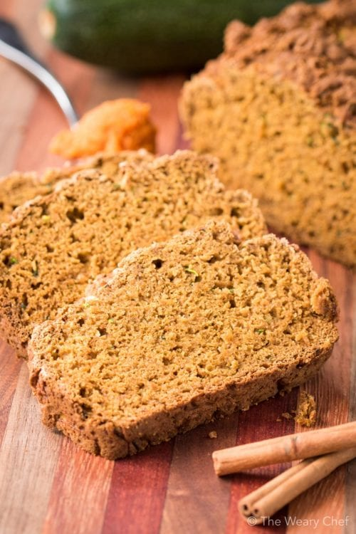 Summer meets fall in this quick bread recipe! You'll want Pumpkin Zucchini bread all year round :)
