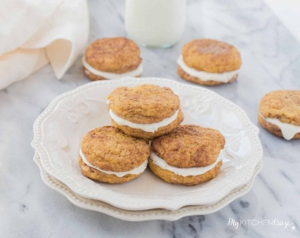 Pumpkin Snickerdoodle Whoopie Pies by My Kitchen Craze