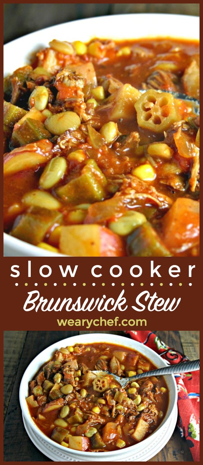 Easy Brunswick Stew In The Slow Cooker The Weary Chef
