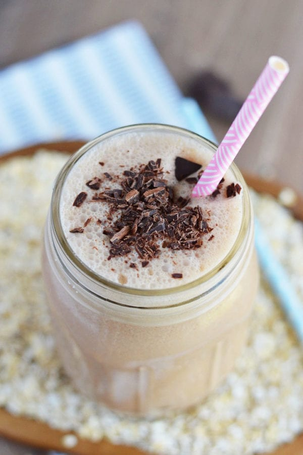 Chocolate Peanut Butter Oatmeal Smoothie (What the Fork Food Blog)