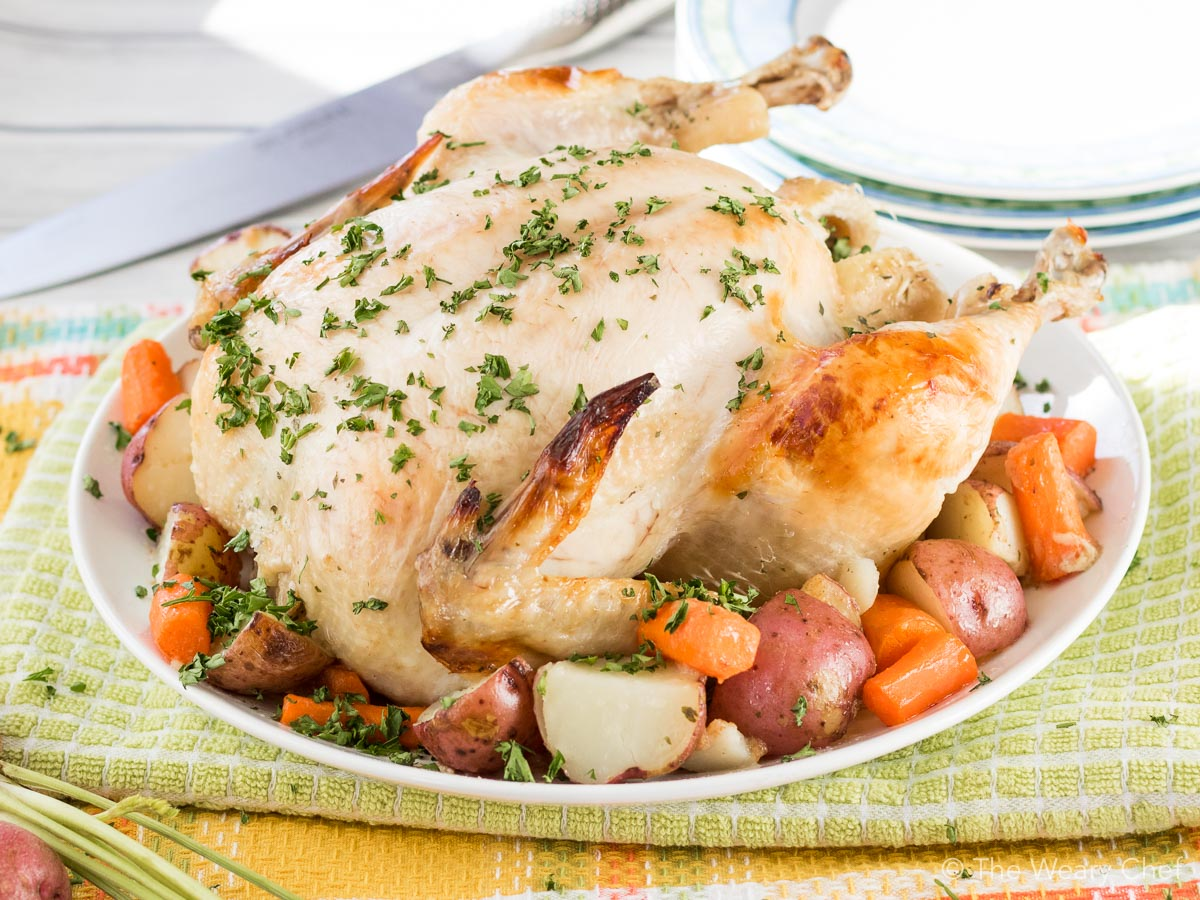 Roasting your chicken in an oven-safe bag gives a perfectly juicy bird every time!