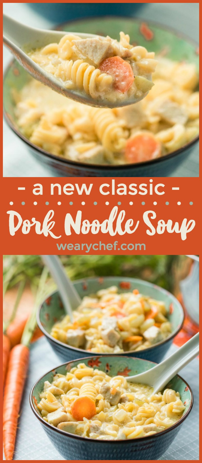 Got leftover pork tenderloin, roast, or ribs? This Pork Noodle Soup recipe is the very best way to turn last night's dinner into your new favorite comfort food!