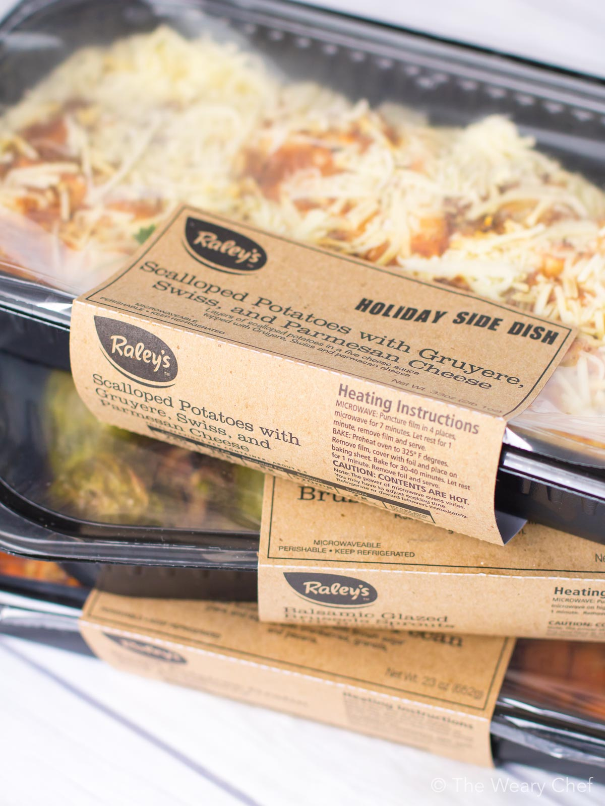 Raley's holiday meals are ready to heat at home for a perfect dinner with very little work!