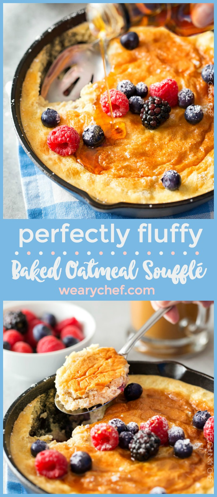 This fluffy oatmeal soufflé is delicious for breakfast or brunch. Don't be intimidated by the name. It's easy to make, and your family and friends will love it!