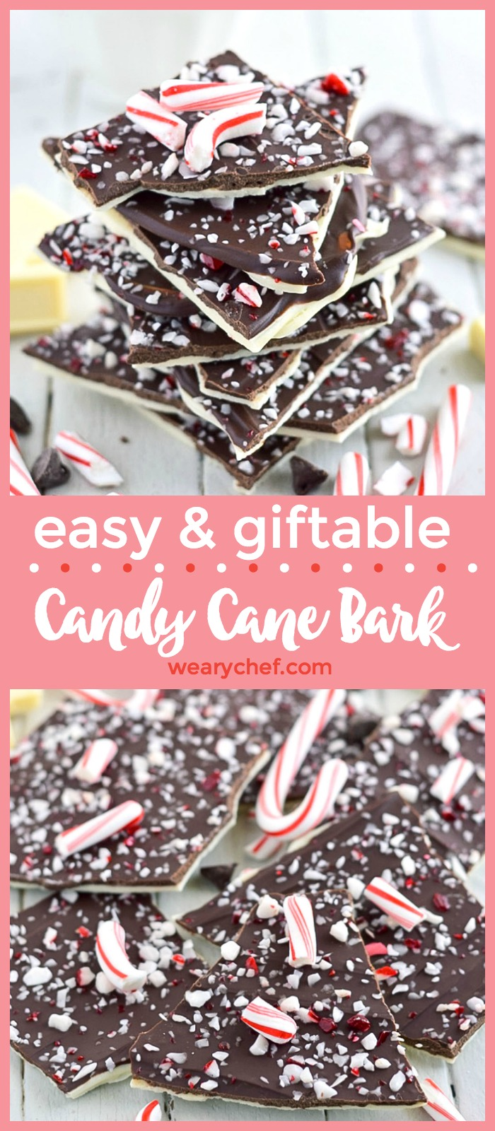 This easy candy cane bark should be a Christmas staple in every house that celebrates the holiday. It's one of those must-have recipes this time of year, and it makes a perfect gift!