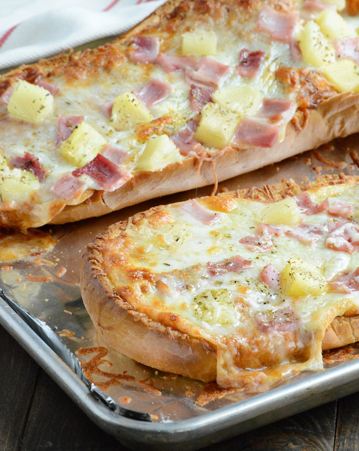 Hawaiian French Bread Pizza The Weary Chef